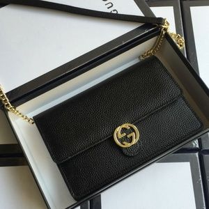 gucci black mini handbag